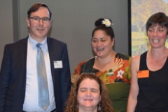 Paul Dickey, Martine Abel, Tina Mataiti and Sue Plowman